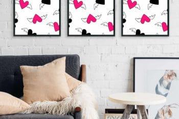 Indoor Poster Design PSD Mockup for Free