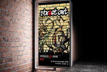 New Poster PSD Mockup for Roadside Advertisement
