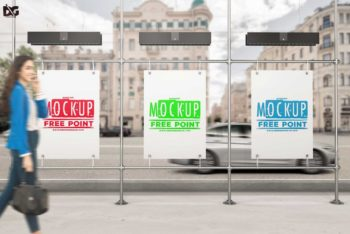 Bus Stand Billboard PSD Mockup for Free