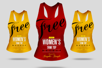 Trendy Ladies Tank Top PSD Mockup for Free