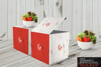 Useful Box Packaging PSD Mockup – Available for Free