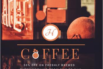 Elegant Coffee Shop Promotional Flyer PSD Template