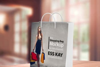 Contemporary Shopping Bag PSD Mockup