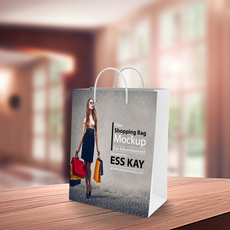 New Shopping Bag PSD Mockup Design
