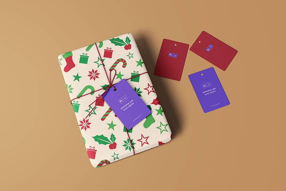 Download This Free Wrapped Gift Mockup Designhooks