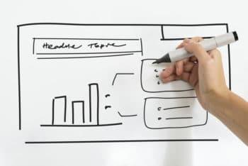 Free Whiteboard Business Plan Mockup in PSD