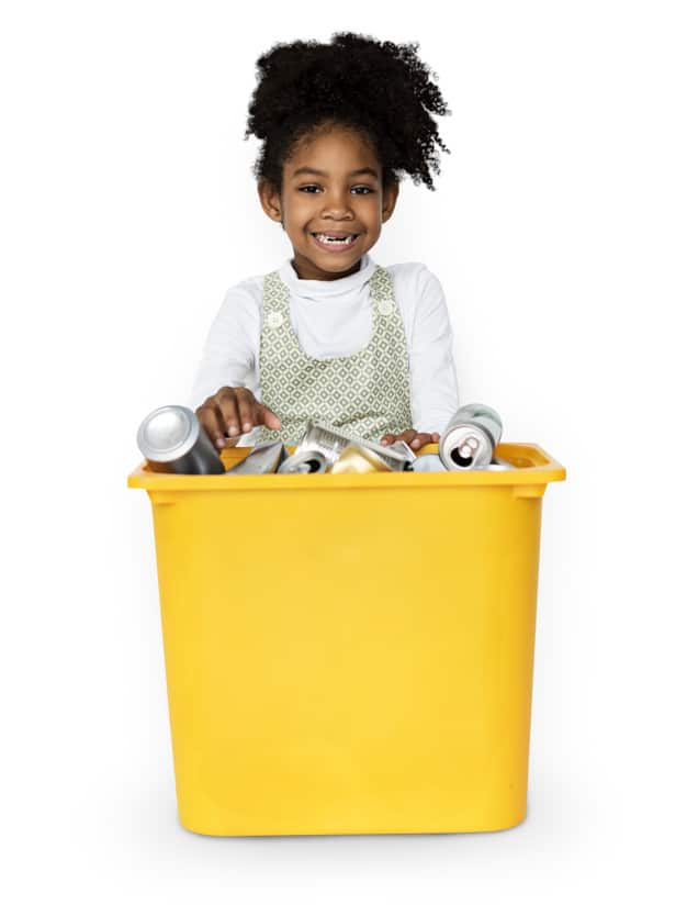 Child Plus Trash Bin