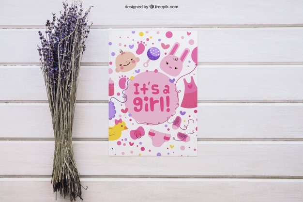 Cute Girl Baby Shower