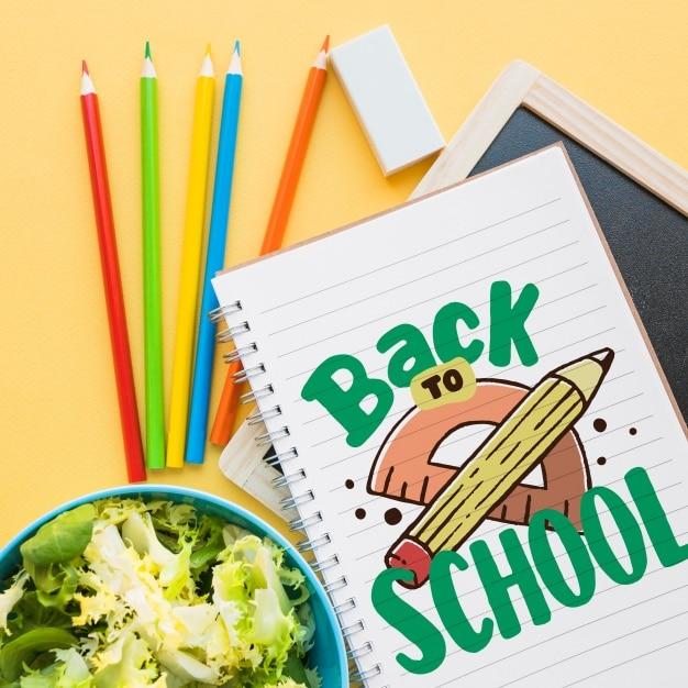 School Supplies Plus Salad