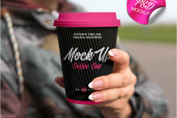 New Photorealistic Coffee Cup PSD Mockup