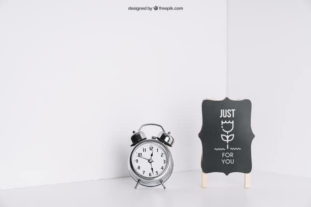 Silver Alarm Clock Plus Board