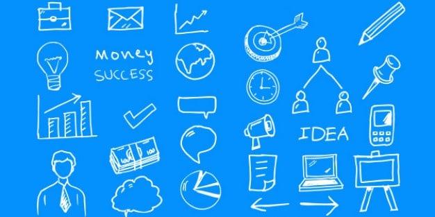 Business Doodle Scene