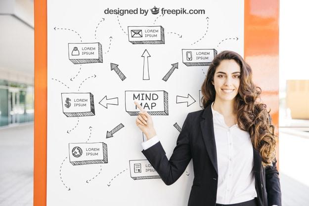 Business Presentation Plus Woman