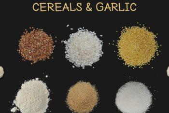 Free Cereals Plus Garlic Ratatouille Dish Mockup in PSD