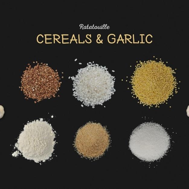 Cereals Plus Garlic Ratatouille Dish