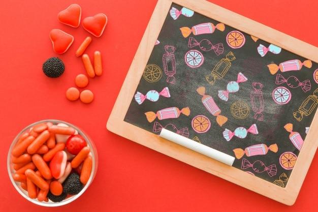 Halloween Candy Plus Chalkboard