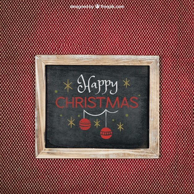 Happy Christmas Chalkboard