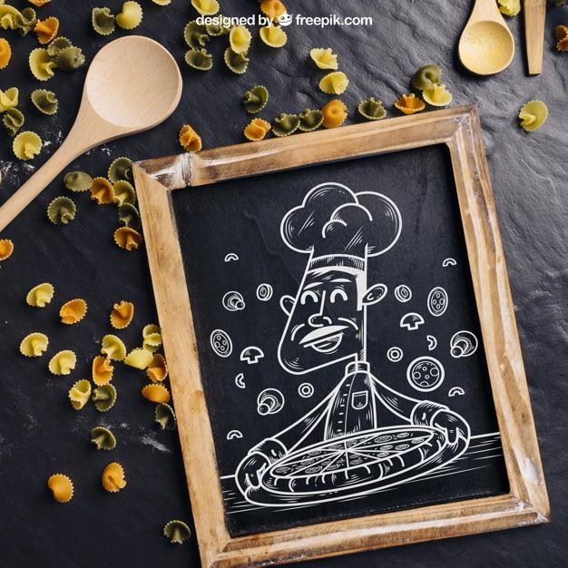 Chalkboard Plus Pizza Chef