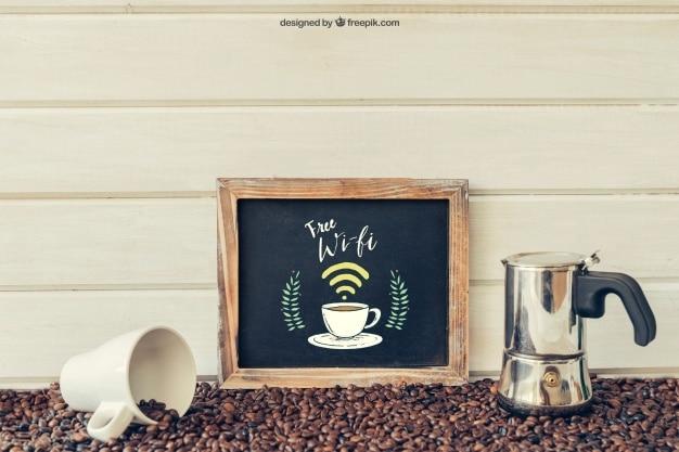 WiFi Coffee Shop Slate