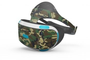 Free Military Style VR Headset Mockup in PSD