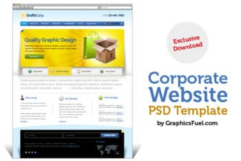 Free Corporate Website PSD Template – Professional Look Blends With Useful Features