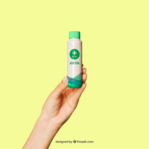 Aloe Vera Cream Bottle Plus Hand