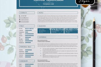 CV with Cover Letter PSD Mockup – Available in Fully Layered Print-ready Format