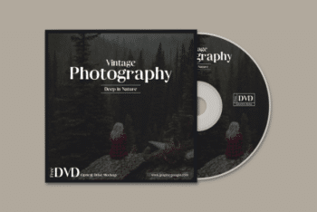 Elegant Looking DVD with DVD Case PSD Mockup for Free