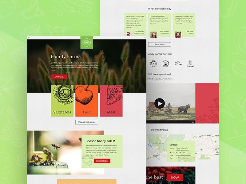 Family Farm Website Psd Mockup Download For Free Designhooks