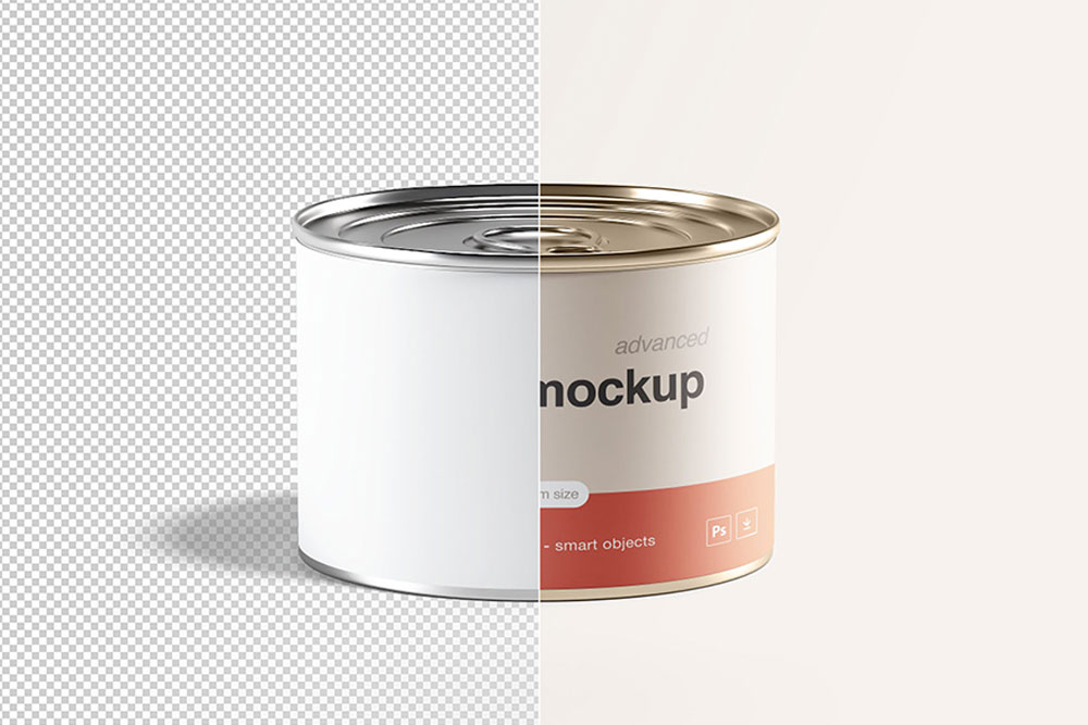 free download tin can mockup