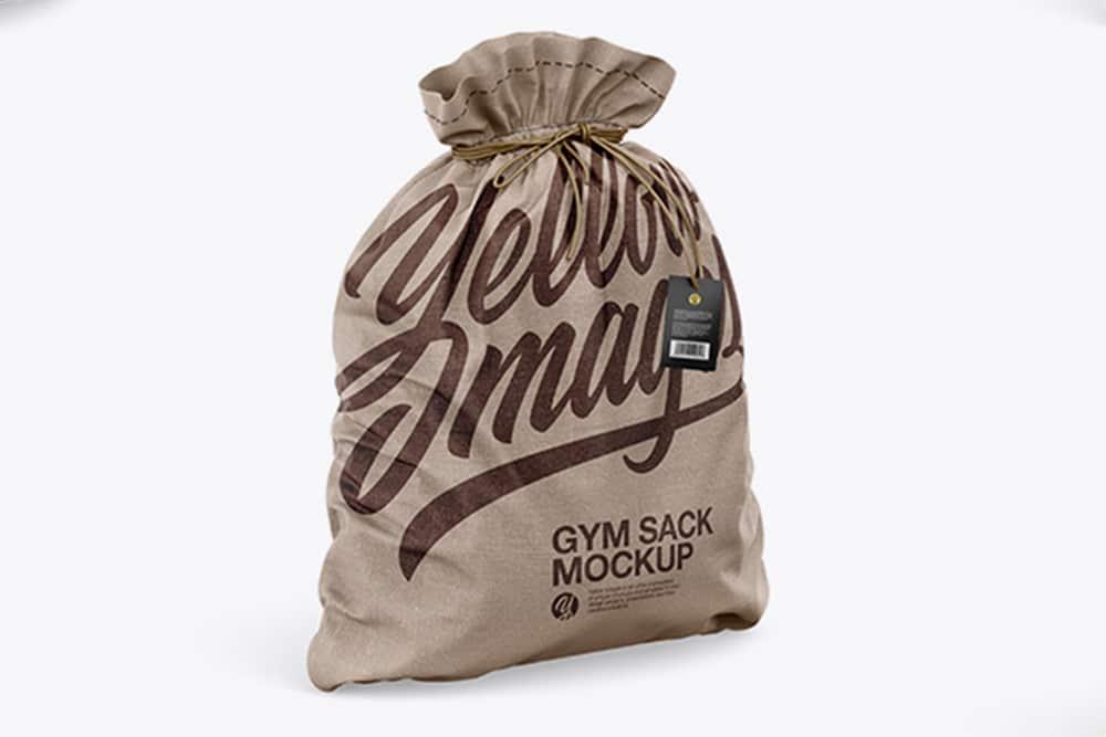 free gym sack mockup