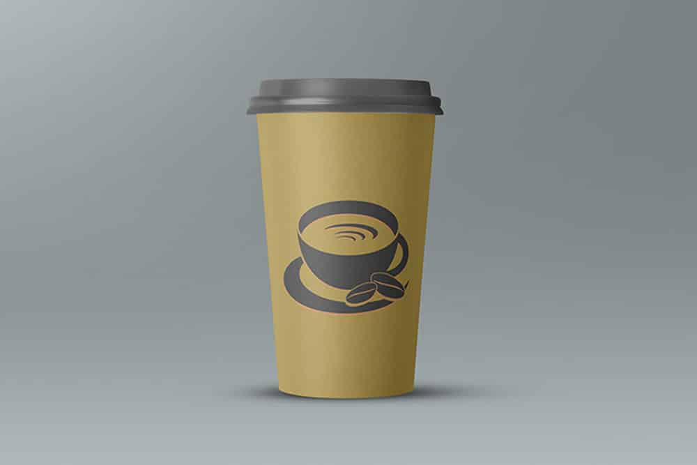 free large paper cup mockup