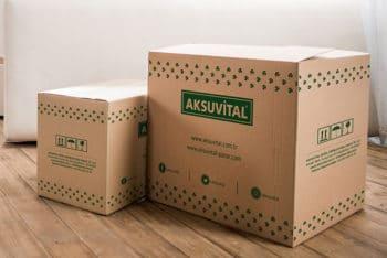Cardboard Packaging Box PSD Mockup for Free