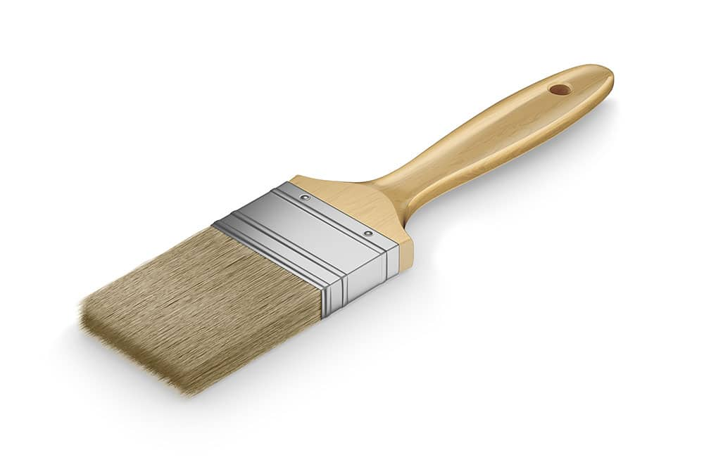 free paintbrush mockup