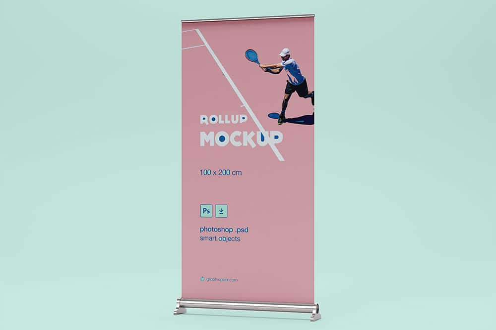 free rollup banner mockup