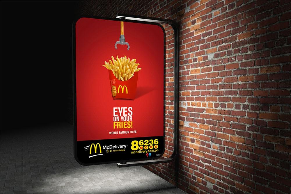 free street advertising mockup