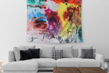 Free Tapestry Mockup in PSD