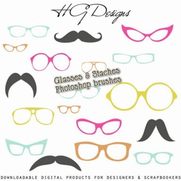 Mustaches Plus Eyeglasses