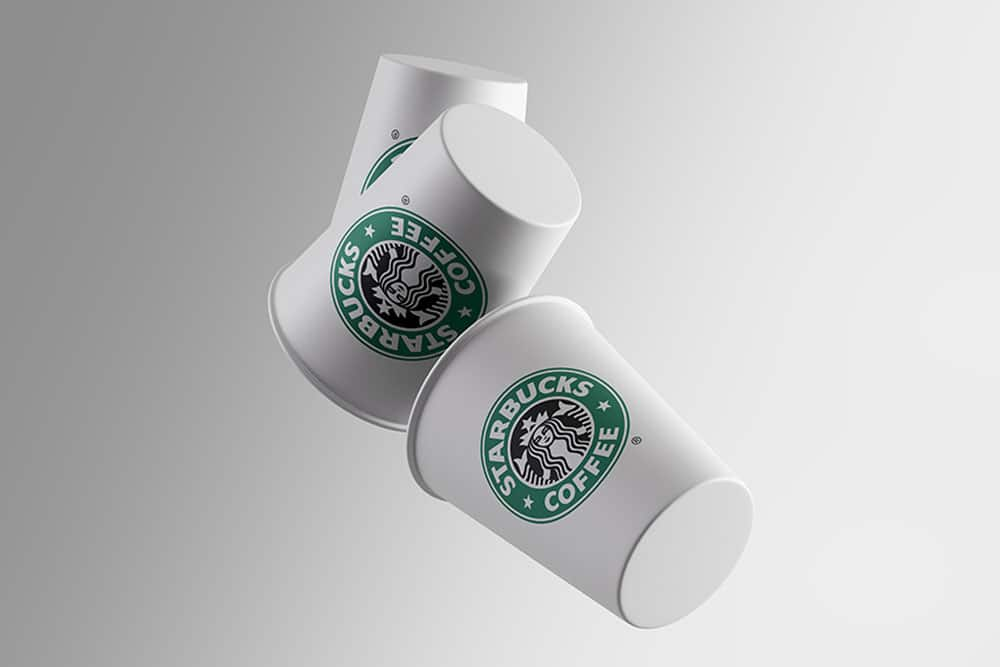free gravity cups mockup