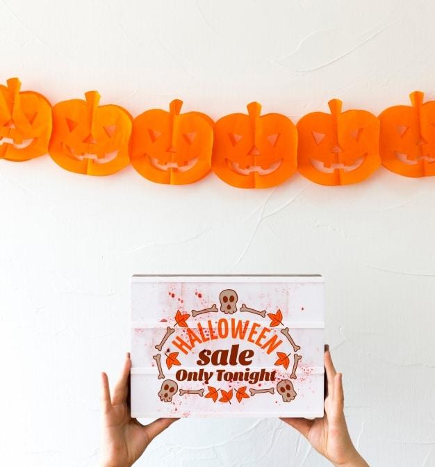 Halloween Pumpkin Cutout Decoration