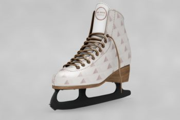 Free Awesome Ice Skating Shoes Mockup in PSD