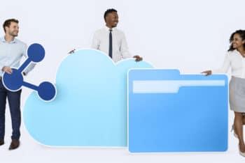Free Internet Plus Cloud Technology Mockup in PSD