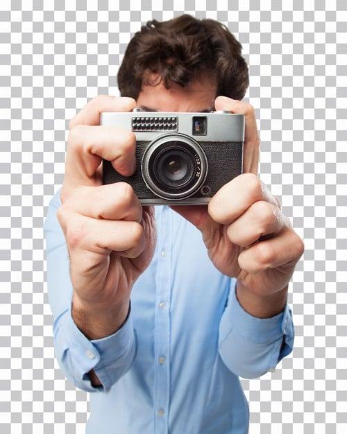 Man Taking Photo Scene