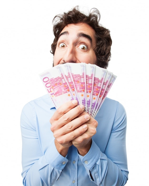 Man Holding Many Bills