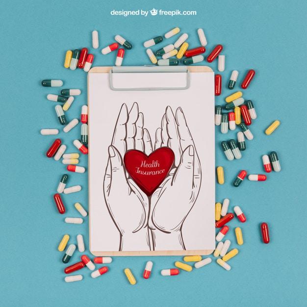 Medical Pills Plus Clipboard