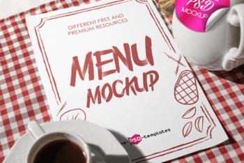 Useful Restaurant Menu Card PSD Mockup for Free