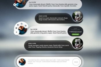 Free Mobile Chat Scenario Mockup in PSD