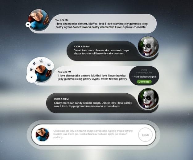 Mobile Chat Scenario