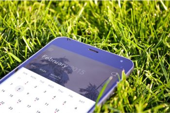 Free Smartphone Plus Grass Mockup in PSD