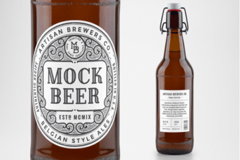New Beer Bottles Designs PSD Mockup